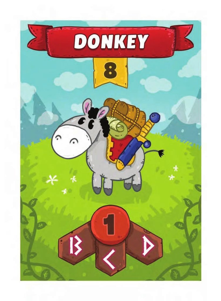Card Story Journey Donkey