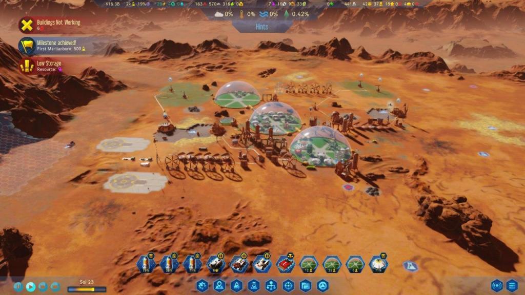 Surviving Mars iniciando la colonia