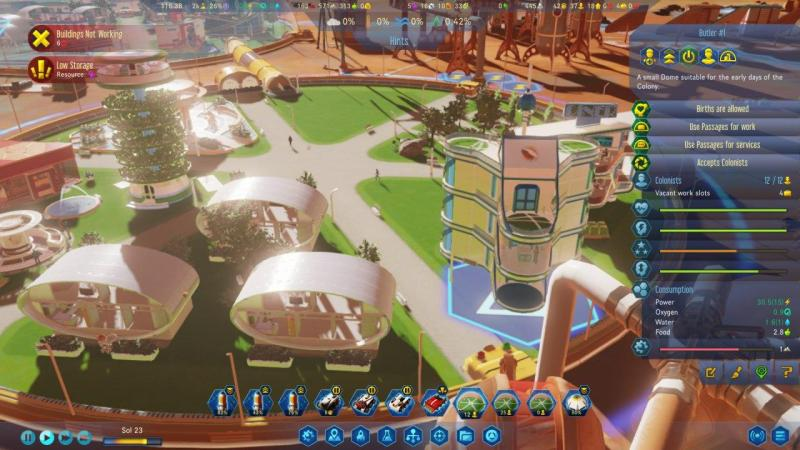 Surviving Mars colonia por dentro