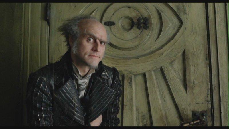 Jim Carrey como el Conde Olaf en la Película de Una Serie de Eventos Desafortunados de 2004