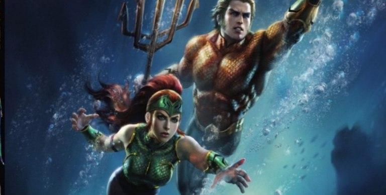 Justice League Throne of Atlantis Mera y Arthur