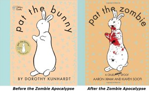 zombie bunny before and after pat the zombie