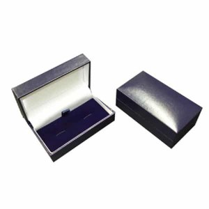 Blue leatherette cufflink box