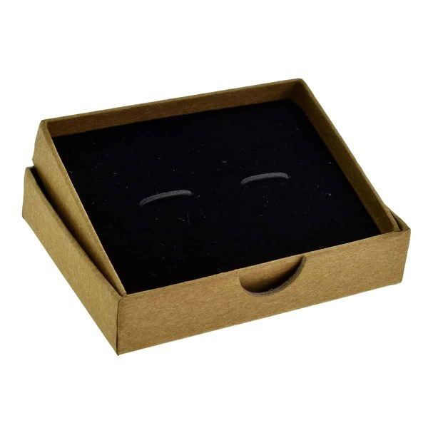 Large brown paper cufflink box