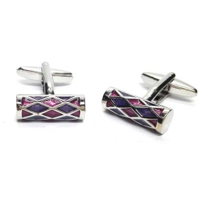 Purple & Lilac Harlequin Cufflinks