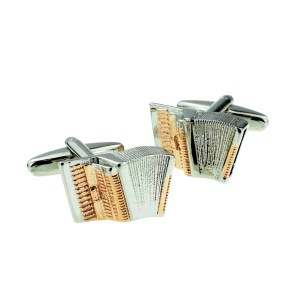 Accordian musical instrument cufflinks