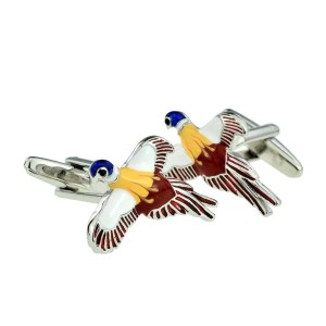 pheasant in flight cufflinks