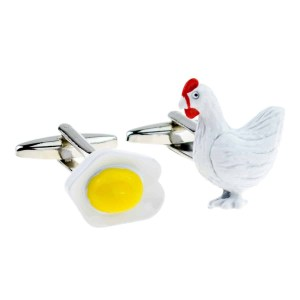 Chicken And Fried Egg Cufflinks