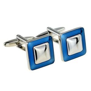 Blue Framed Classic Cufflinks