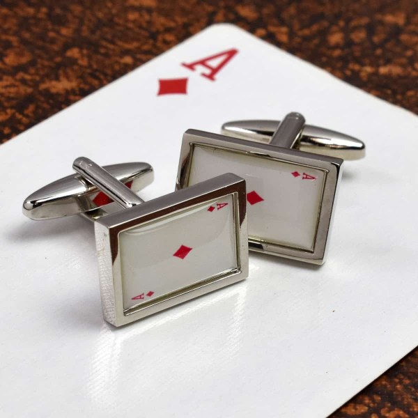 Ace of Diamonds cufflinks