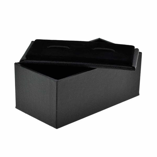 Premium black cufflink box