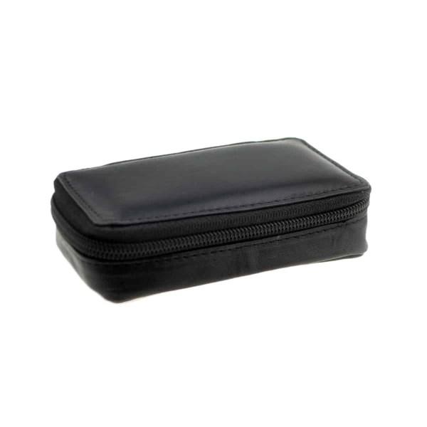 Rectangular Leather Travel Cufflinks Case
