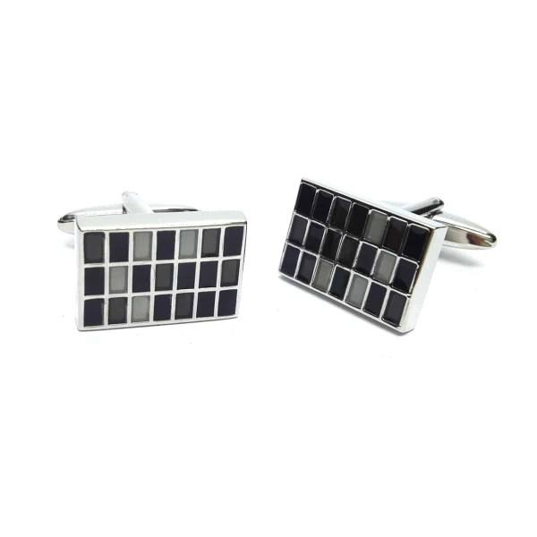 Black and grey coloured cufflinks