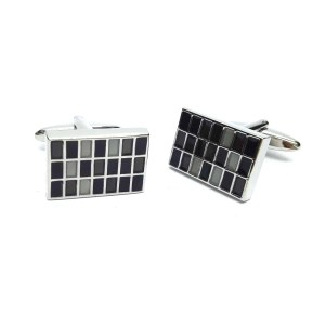 Black and grey coloured cufflinks