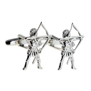 Bow and arrow cufflinks