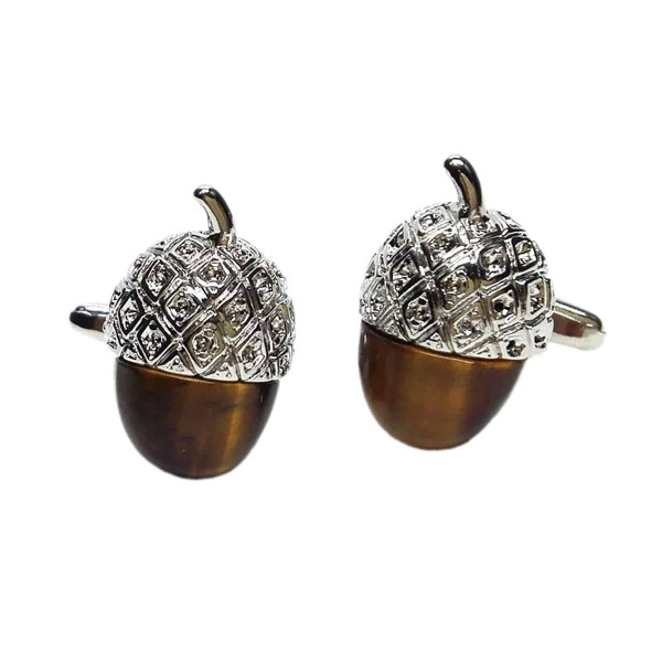 Acorn shaped cufflinks