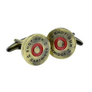 Brass shotgun cap cufflinks