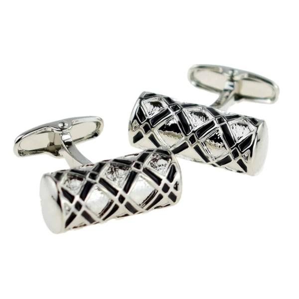Tubular shaped classic cufflinks