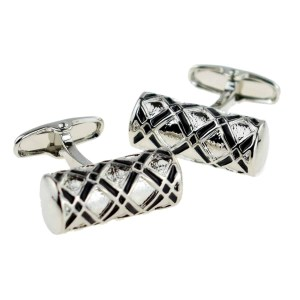 Tubular shaped classic cufflinks