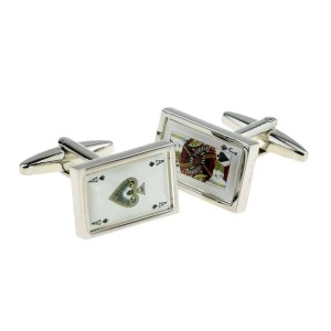 Black jack inspired cufflinks