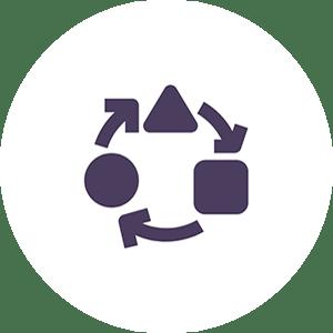 Pictogramme adaptabilité de la solution Cuidam