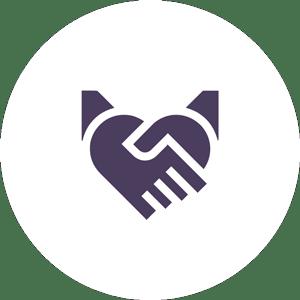 Pictogramme confiance en Cuidam la solution anti-harcèlement