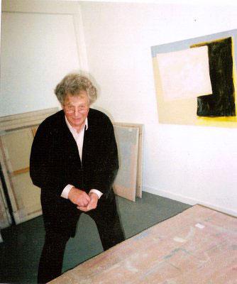 Photograph of Cuillin Bantock in his studio