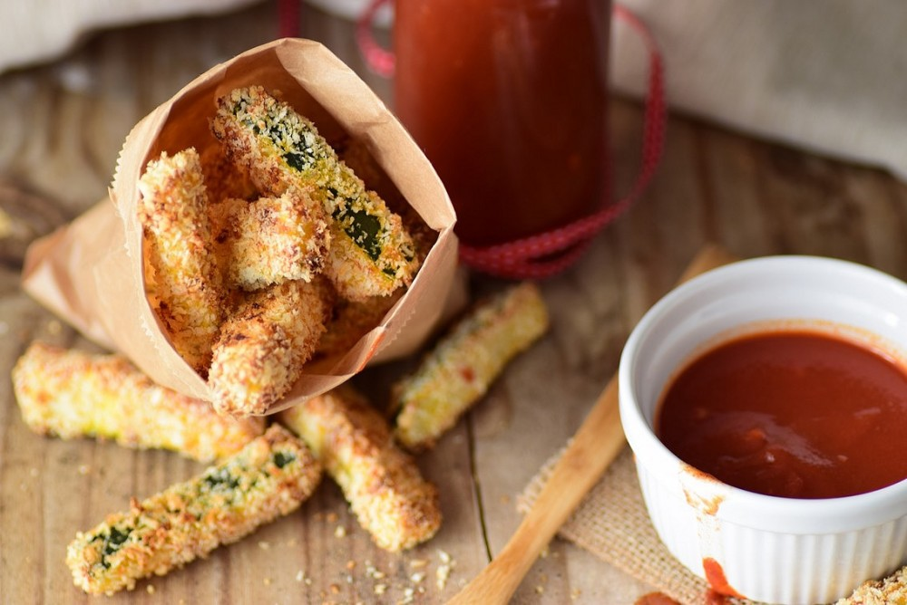frite courgette ketchup1