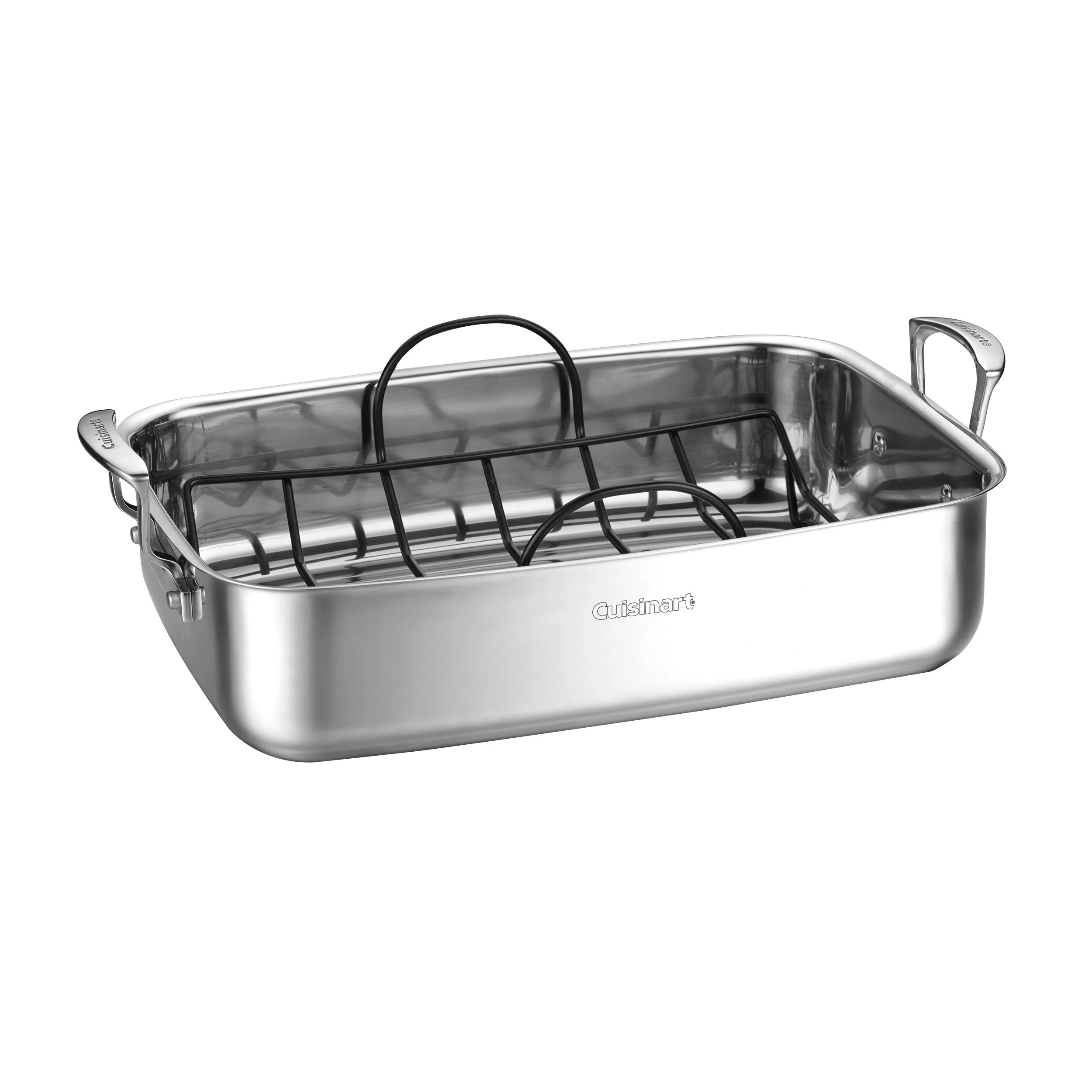 15 stainless steel roaster with non stick rack
