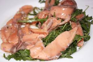 carpaccio saumon roquette - Carpaccio de Saumon et sa petite salade