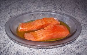 saumon miel prepa - Pavés de saumon au miel