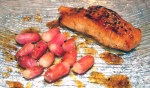 saumon miel - Pavés de saumon au miel