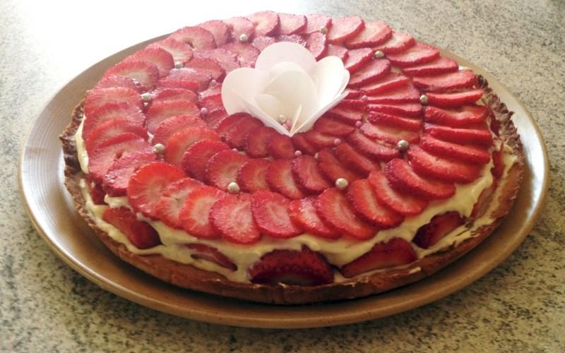 tarte fraise creme 4 - Zebra cake vanille-chocolat (Gâteau zébré / tigré)