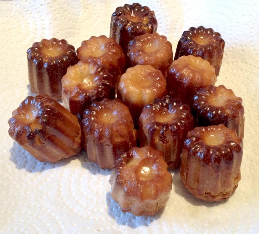 canneles caramel 2 - Mini Cannelés à l'orange