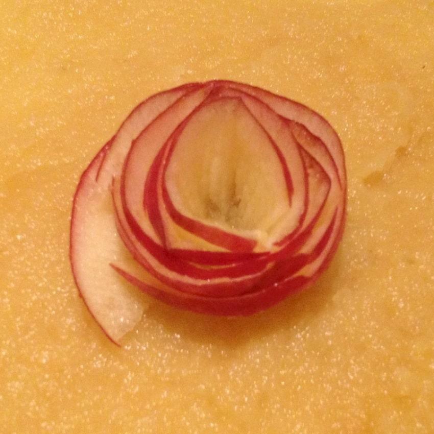 """tarte pomme roses caramel prepa 3 - Tarte aux pommes """"Bouquet de roses"""""""