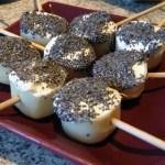 amuse bouche coeurs de palmier 3 - Coeurs de palmier au fromage et sésame grillé