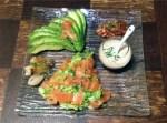 salade avocat aumon fume 1 - Salade au saumon fumé et à l'avocat