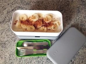 Recette de Bento fromage blanc, bananes, speculoos