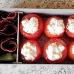 bento viande grisons tomates farcies 1 - Bento mini tomates farcies et viande séchée des Grisons