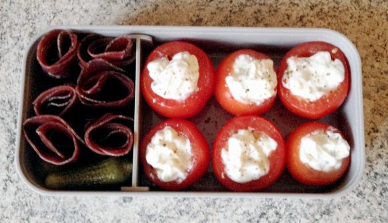 bento viande grisons tomates farcies 1 - Zebra cake vanille-chocolat (Gâteau zébré / tigré)