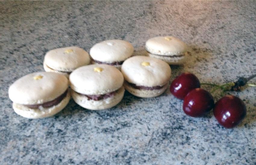 Recette de Macarons Chocolat blanc et Cerise
