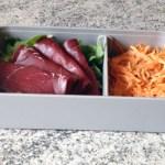 bento viande grisons roquette carottes 1 - Bento carottes râpées, roquette, viande des grisons