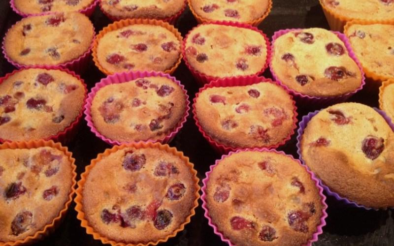 clafoutis griottes muffins 3 - Zebra cake vanille-chocolat (Gâteau zébré / tigré)