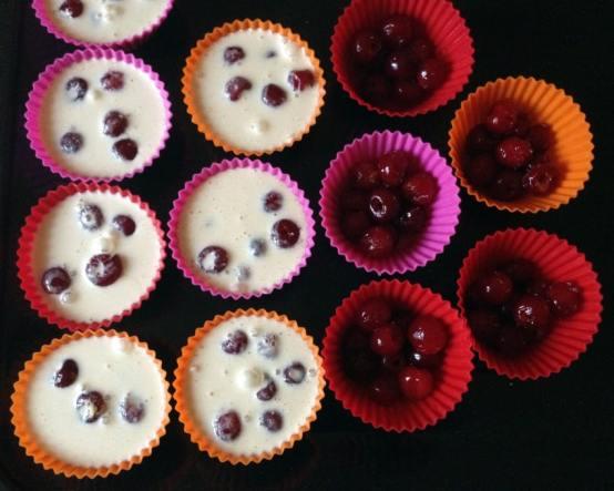 Recette de Petits clafoutis aux griottes façon muffins