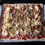 pizza jambon chorizo champignons fromage tomate prepa 4 - Pizza jambon, chorizo, champignons, fromage, tomate