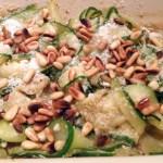 salade courgettes parmesan pignons 1 - Salade de courgettes au parmesan et pignons de pin