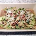 salade courgettes parmesan pignons 2 - Salade de courgettes au parmesan et pignons de pin