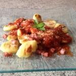 gnocchis parmesan 2 - Gnocchis au Parmesan + sauce tomate basilic