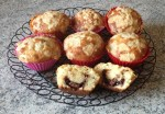 muffins crumble nutella 2 - Muffins au Nutella façon crumble