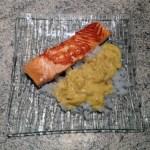 saumon konjac epices 1 - Pavés de saumon aux épices et gohan de konjac